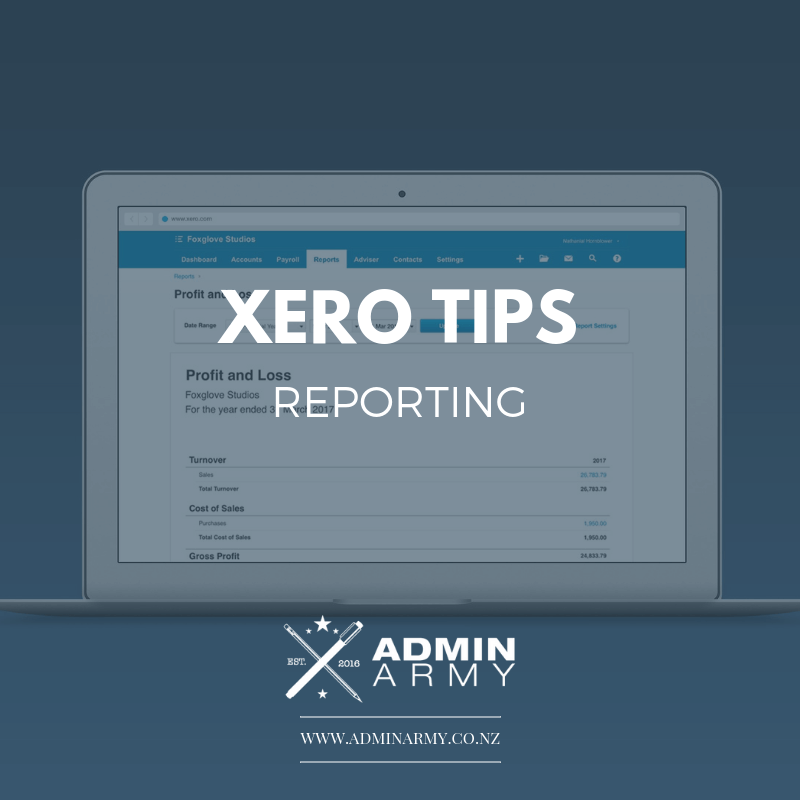 admin-army-bookkeeping-virtual-personal-assistant-xero-tips-reporting